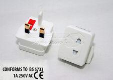 2X Electric Shaver Razor Adaptor UK 1A Plug FUSED Visitor Socket Converter 237C
