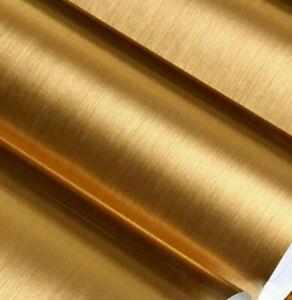 1m GOLD BRUSHED VINYL sticker Roll foil sign making metallic art 610mm