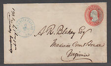 **CSA Cover, Charlottesville, VA, 5/18/1861, Conf Usage of US Postage