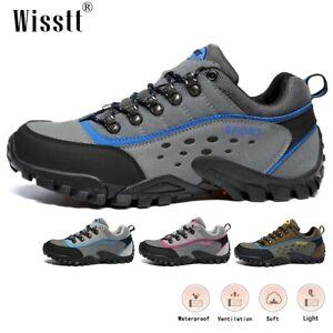 Wisstt Mens Hiking Shoes Flats Lightweight Comfortable Outdoor Non-Slip Sneakers