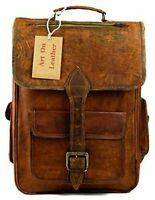 Backpack Travel Walking Handmade Genuine kodiak vintage Leather Bag Rucksack