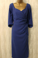 Bombshell Katya Wildman Blue Moss Crepe Structured Cocktail Occasion Dres  20 48