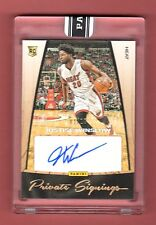 JUSTISE WINSLOW 2015-16 PANINI PRIVATE SIG AUTOGRAPH AUTO ROOKIE # 1 / 10 HEAT