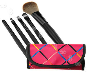 Cosmetic Make Up Brush 5pcs x 1 kit with red bag case