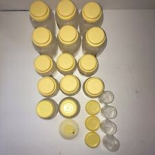 Lot Of Medela Milk Collection Storage Bottles With Lids And Spare Parts