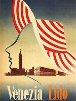 TRAVEL TOURISM VENICE LIDO ITALY SAN GIORGIO MAGGIORE POSTER ART PRINT BB2881A