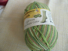 100g Regia COTTON COLOR Fb.2418 kiwi-color - 4fach- Sockenwolle BW Schachenmayr