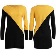Women's Autumn Winter Long Sleeve Knitted Bodycon Sweater Jumper Slim Mini Dress