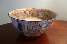 RARE ROYAL DOULTON DICKENS WARE FOOTED SALAD/SERVING BOWL 19cm wide 9.5 cm tall