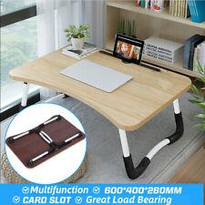 Multi Purpose Folding Wooden Portable PC Desk Table Tea Study Laptop Tray Stand
