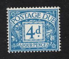1955. D51. 4d blue Postage Due. Superb unmounted mint. FREEPOST!