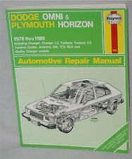 Dodge Omni Plymouth Horizon Charger Turismo Duster Shelby 1978 Thru 1989 Haynes
