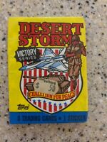 SEALED TOPPS DESERT STORM VICTORY SERIES WAX PACK 1991 8 CARDS 1 STICKER FS