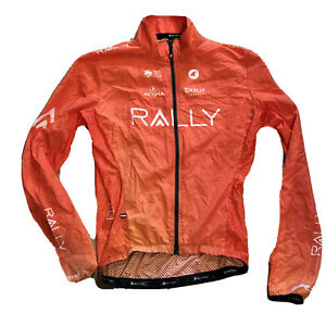 New 2020 Men's Pactimo Rally Pro Cycling Divide Wind Jacket, Orange, Size Small