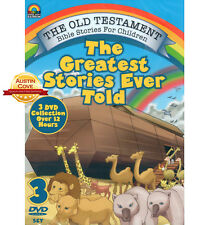 Greatest Stories Ever Told - Over 30 Bible Stories for Children - 3 DVDs - New