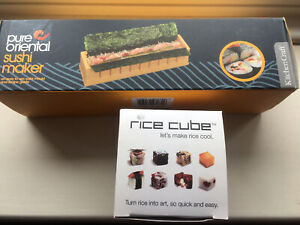 Sushi Maker and Rice Cube Maker, KITCHEN CRAFT, Healthy, Oriental, NEW IN BOXES