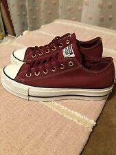 Nwob New Converse red maroon suede leather Sneakers shoes platform low tops 9