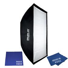 Phot-R 60x90cm Softbox Elinchrom Mount Speedring Light Microfibre Chamois Cloth