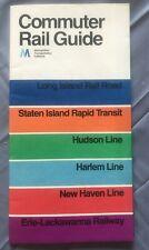 1974 New York Commuter Rail Guide Map Mint