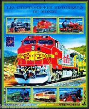 Guinee MNH SS, Belgica 2001, Railways, Engines, Train