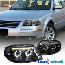 For 2001-2005 VW Passat Dual Halo Led Projector Headlights Black SpecD Tuning