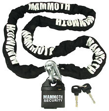 NEW MAMMOTH 10MM SQUARE LOCK AND CHAIN FREE P&P