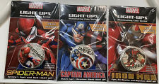 Set Of 3 Marvel Avengers Fuji Light Up 50 Cent Coin New 2017 Sealed