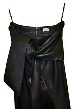 New (RRP$145) SHEIKE Pencil Maxi Wrap Skirt ~10~Faux leather (feels the same!)