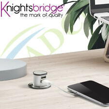 Miniature Pop-Up Dual USB Charger For Home & Office Desks Surfaces Power Supply