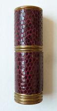 Étui tube baton de rouge à lèvres ROCHER Paris en cuir Ancien vers 1930