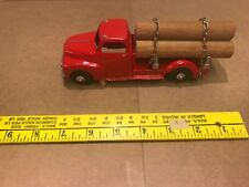 in Vintage 1954 Red Hubley Log Truck No. 452 Diecast Collectible