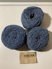 Brooklyn Tweed Shelter Yarn! LOT of 3 Cakes! Color is 'Flannel'. Beautiful Tweed