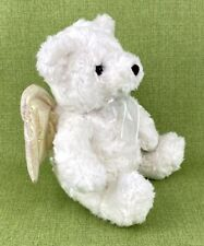 Avon Kids Inspirational Plush Singing Angel Bear 2001 Head Wings Move Christian