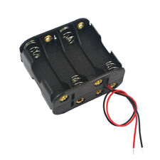 AA Battery Holder Case Box Black 8x 12V Batteries Storage Cases with Wire Leads