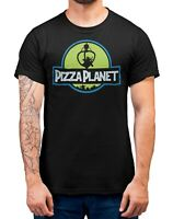 Pizza Planet Jurassic Park ToyStory T-Shirt Adults Sizes Black 100% Cotton Shirt