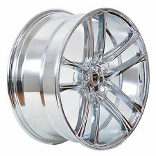 4 GWG Wheels 20 inch Chrome ZERO Rims fits 5x112 ET35 AUDI A6 PRESTIGE 2012-2017