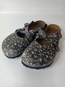 Birkenstock Birki's Dorian Flora Clog Summer Trend Sandals Shoe Sz 38 L7 M5