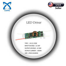 High Power Driver Supply AC 12-24V DC 22-38V 300MA 8-12X1W Constant Current LED