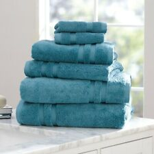 Mainstays Performance Solid 6-Piece Bath Towel Set- Coolwater *Free Shipping*