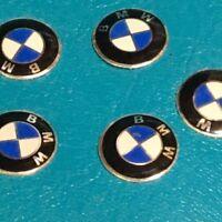 2 x BMW LOGOTIPO PEGATINA EMBLEMA STICKERS PARA LLAVE, CARCASA O MANDO 3D