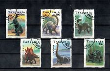 Dinosaurs & Prehistoric Animals Full Set Postage Stamps Card Protected Tanzania