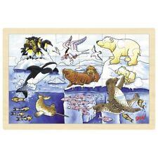 Puzzle en bois animaux polaires 24 pcs - 3 ans -  Jouet en bois GOKI**