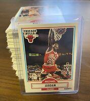 🔥HIGH GRADE JORDAN MINT 1990-91 Fleer Basketball Complete base Set 1-198