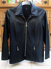 veste légère noir imperméable / coupe vent légèrement cintrée taille 38