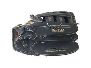 Vintage Mizuno Black Baseball Glove Mitt MZ 1352 Leather Super Flex Size 13.5