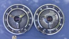 """Pair 3893599 SS 14"""" Stainless Full Wheel Covers w/3860217 Inserts L48 L78 L79"""