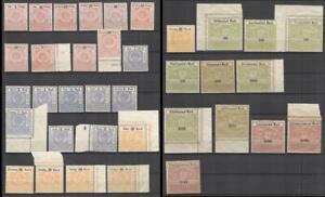 Germany Hessen revenues set of 1907-18 MNG fiscal Stempelmarken
