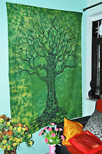 Tree Of Life Green Tie Dye Bohemian Psychedelic Intricate Floral Design Tapestry