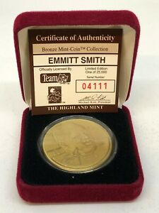 Highland Mint Emmitt Smith with Case 04111/25000!