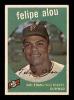 1959 Topps Set Break # 102 Felipe Alou VG-EX *OBGcards*